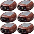 HunnyKome Solar Pebble Worker Eco Rock Light, Grey (Pack of 6)