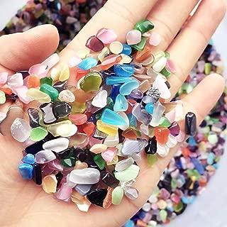 Wayber 1 Lb/460g Decorative Rocks (Fills 1&1/4 Cups), Crystal Sand Stones for Aquariums/Terrariums/Garden/Flowerpot/Glassware/Vases Decoration
