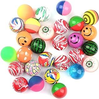 X Hot Popcorn 30 Pcs Bouncing Bouncy Balls, Mixed Pattern Designs