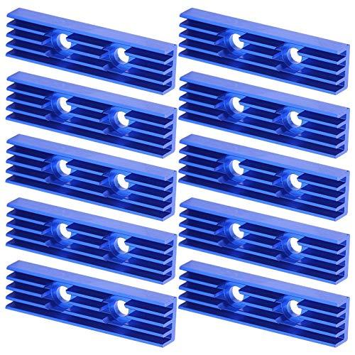 banapo Radiador Enfriador de disipador de Calor, radiador de Calor Resistente y Duradero de Aluminio para transistores para aparatos eléctricos para componentes electrónicos para Placas de Potencia
