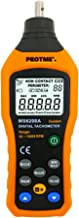 Digital Contact Tachometer, Protmex MS6208A Contact Measurement Speed Tach Meter 50-19999RPM Speed Meter Contact Tach RPM Meter With 100 Groups Data Logging, Data Hold, Max/Min/AVG, Backlight