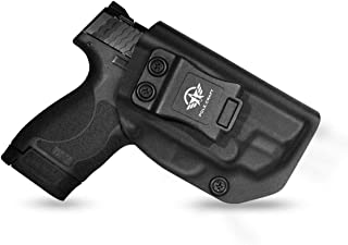 IWB Kydex Holster for Smith & Wesson M&P Shield 2.0 9mm .40 S&W - with Integrated CT Laser - Inside Waistband Concealed Carry - Cover Mag-Button - No Wear, No Jitter