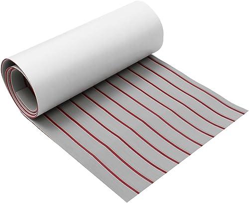 ChaRLes UpGröße SelbstKleber EVA Foam synthetische Teak Deck Stiefelblech grau + rote Linie 5mm dicke - 1200x2400x5mm