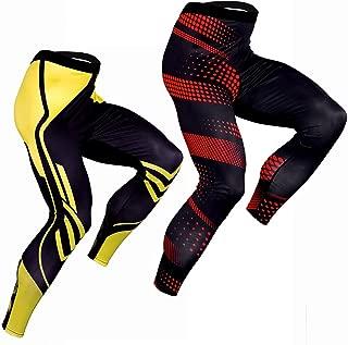 CANGHPGIN Men's Compression Dry Cool Sports Tights Pants Baselayer Running Leggings Yoga Sports Tights Pants