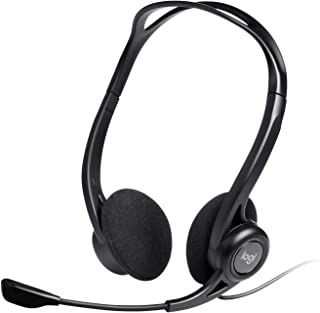 Logitech 960 Wired Headset, Stereo Headphones with Noise-Cancelling Microphone, USB, Lightweight, In-Line Controls, PC/Mac...