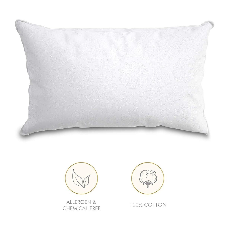 領事館バージングリースWISE TIGER MSAFF 睡眠用ベッド枕 – コットン100%ソフト枕インサート – 20 x 36キング – ホワイト 20