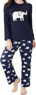 DiaryLook Soft Pyjamas for Women, Long Sleeve Womens Pyjamas Sets Sleepwear, Pjs for Ladies sets UK Size Pyjamas 8-28, XS-XXL