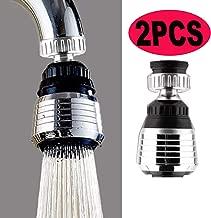 360 Rotate Swivel Water Saving Tap Aerator Diffuser Faucet Nozzle Filter Adapter(2PCS)