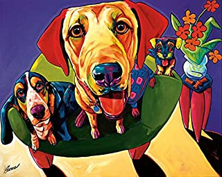 Molly, Moe & Jack by Ron Burns Animals Dogs Humor Print Poster 24x18