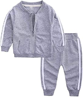 RkYAO Boy's Baby and Toddler 2-Piece Everyday Active Jacket and Pant Set