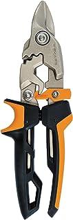 Fiskars PowerGear Aviation Snip Bulldog Cut, 40% More Power, Length 23.2cm, Heat-Treated Steel Blade/Plastic Handle, Blac...