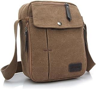 Kipten Men Canvas Small Shoulder Bag Retro Leisure Handbag Crossbody Bags