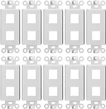CMPLE – 2 Port Decora Wall Plate 1-Gang Keystone Decora Insert, Jack Single Gang Decora Wall Plate – (10 Pack)