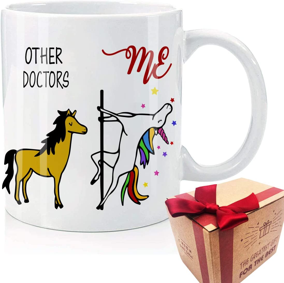 Other Doctors me Funny Office Coffee Mug, Vibrant, And Powerful, Doctor Birthday Gifts, Novelty Unicorn Gifts, Thank You Gift for Doctor Tea Cup
