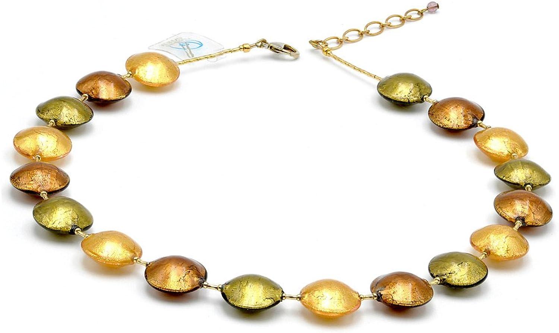 muchas concesiones Pastiglia oro collar Bijou Bijou Bijou Raffine de cristal de Murano de Venecia  promociones de descuento