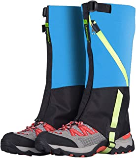 ayamaya Hiking Gaiters Waterproof Kids' Snow Leg Gaitors, Breathable High Boots Children Shoe Cover Snake Ski Gaiters for Outdoor Sports Walking Hunting Climbing Mountain Snowboarding