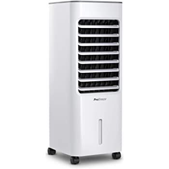 Pro Breeze® Climatizador Evaporativo Portátil 5L con 4 Modos de Funcionamiento, 3 Velocidades de Ventilador, Pantalla LED y Control Remoto. De Alta Potencia con Temporizador y Oscilación: Amazon.es: Hogar