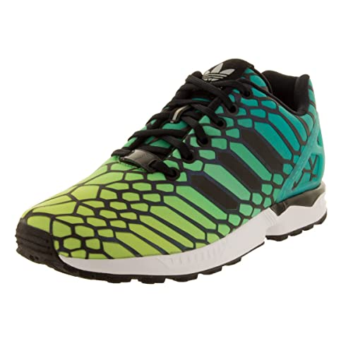 finest selection ad4f6 3e4ee adidas Big Kids Unisex Originals ZX Flux Running Shoes Solar  Yellow Black Running White
