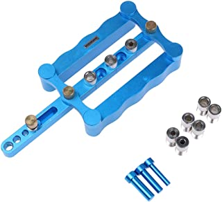 AUTOTOOLHOME Self Centering Doweling Jig Kit Punch Locator Dowel Jigs 6mm 3/8 5/16inch Drill Guide sleeve Tools for Woodworking Joinery