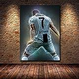 fdgdfgd Famoso fútbol Estrella Messi Lienzo artístico HD Lienzo póster Sala de Estar Dormitorio fútbol Pareja decoración de la habitación
