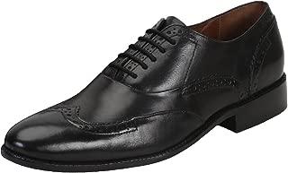 BRUNE Men Black Color Leather Brouge Shoe