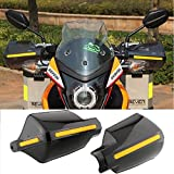 Pair Motorcycle Hand Guards 7/8' 22mm Handlebar Handguard Handle Protector Bike Brush Wind Guard (Black)