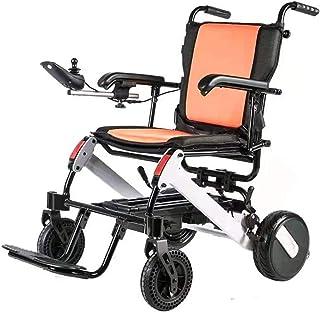 Las últimas Deluxe Silla de ruedas eléctrica plegable, ultraligero Silla de ruedas eléctrica portátil, con Bluetooth y pantalla LCD, Silla de ruedas eléctrica con la manta, asistida for silla de rueda