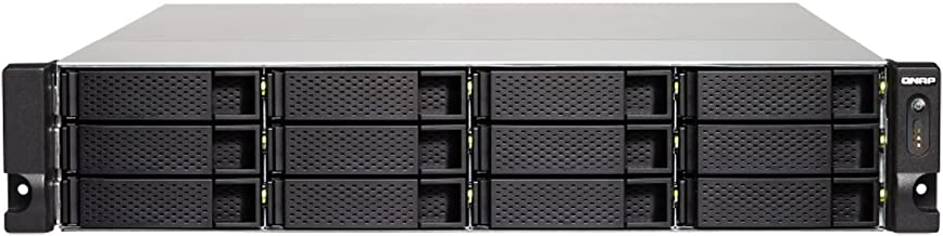 QNAP TS-1263XU-RP-4G-US 2U 12-Bay AMD 64bit x86-based NAS and iSCSI/IP-SAN, Quad Core 2.0GHz, 4GB RAM, 4 x 1GbE, 1 x 10GbE...