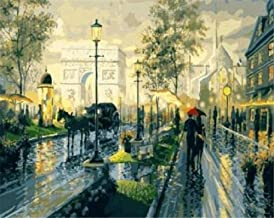 Painting by Numbers Adult London Street Oil Painting Pre-Printed Canvas Kids Kits Home House Decor-40 * 50cm (Frameless)