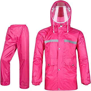 Icegrey Regenpak voor dames en heren, ademend sneeuwpak, regenjas en broek met reflecterende strepen, regenkleding voor fi...