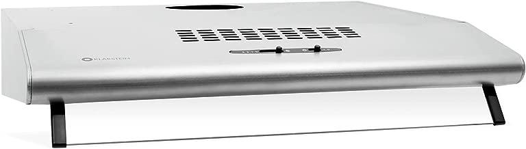 Klarstein UW60SR cappa d'aspirazione da cucina montaggio a parete (60cm, 190 m³/h, 3 livelli, 2 filtri in alluminio, illumunazione, acciaio inox spazzolato, classe C) - grigio