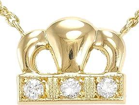 K18 18金 YG イエローゴールド ネックレス ダイヤ 総重量約3.4g ジュエリー 中古 新品同様 【中古】 ギフトラッピング無料