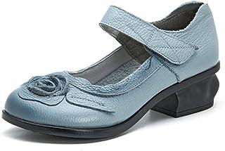 Socofy Mocassini Donna di Pelle Scarpe Donna Scarpe da Balletto Loafers Scarpe Casual Donna Primavera Estate Casual Flat Confortevole in Pelle Rotonda Testa Mocassino Pantofole Scarpe da Barca