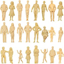 P2501B 24pcs Model Trains Architectural 1:25 UnPainted Figures G Scale sitting and standing person model railway layout NEW