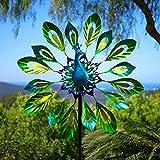 Primrose Peacock Metal Wind Spinner Dia 40cm