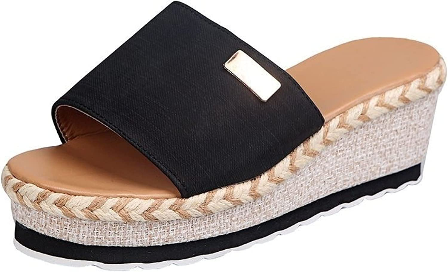 Platform free shipping Slides Sandal for Woman Rest Canvas Toe Now free shipping Vacation Peep
