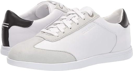 Optic White Leather/Glacier Grey Suede/Black Leather/Optic White