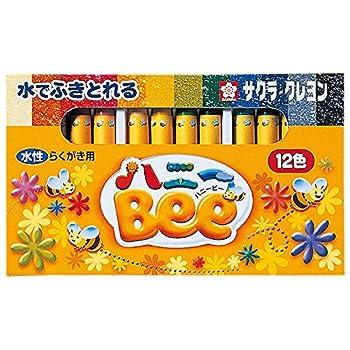 12 Color Set Honey Bee Sakura Color crayon aqueous  japan import