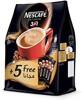 Nescafe 3 in 1 Intenso Instant Coffee Mix Sachet - 700 gm, Pack of 35 with 5 Sticks Free