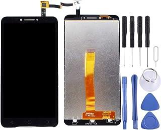 مجموعة كاملة من شاشة LCD ومحول رقمي من Lingland لهاتف Alcatel One Touch Pixi 4 6 4G / 9001 (أسود) .Phone Phone Phone الخلف...