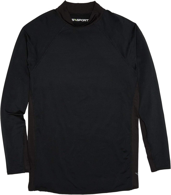 KingSize KS Sport Men's Big & Tall Mock Neck Base Layer Shirt by KS Sport