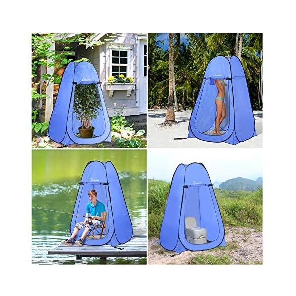 WolfWise Tienda de Campaña Tent Abrir Cerrar Automáticamente Pop Up Portable Sirve para Camping Playa Bosques Zonas de montaña Ducha Aseo Carpas 3