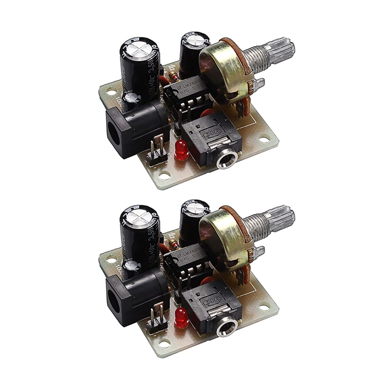 サーバ非効率的なホバートDIYキット 小型 アンプボード 2個 電子部品 5V-12V オーディオアンプボード