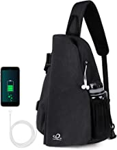 Waterfly Sling Backpack Sling Bag Chest Crossbody Bag for Bicycle Sport Hiking Travel Camping Men Women