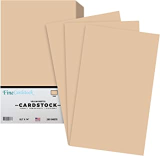 "Tan 8.5"" x 14 Inches 67Lb Card Stock 
