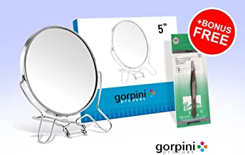 Bryt Desk Double Sided Face 7X Magnifyng Makeup Mirror