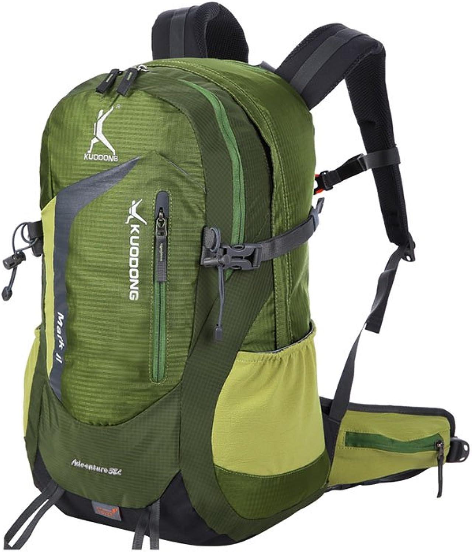 MuMa Daypacks Bergsteigertasche Rucksack Sport Im Freien Wanderrucksack Reitpaket (Farbe   Grün)