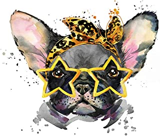 5D DIY Diamond Painting by Number Kit for Kids and Adults, Animals Embroidery Cross Stitch Picture Supplies Arts Craft for Home Wall Decor (Dog)