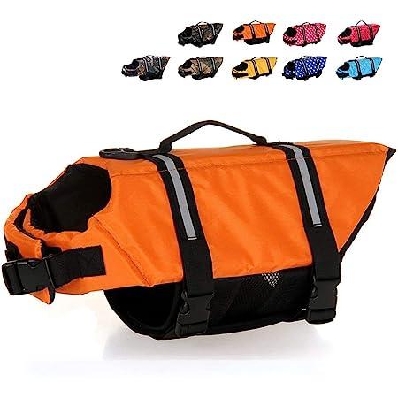 HAOCOO Dog Life Jacket Vest Saver Safety Swimsuit Preserver with Reflective Stripes/Adjustable Belt for Dog