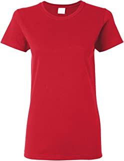 Gildan Women's Plus Size Cotton Crew Neck T Shirt